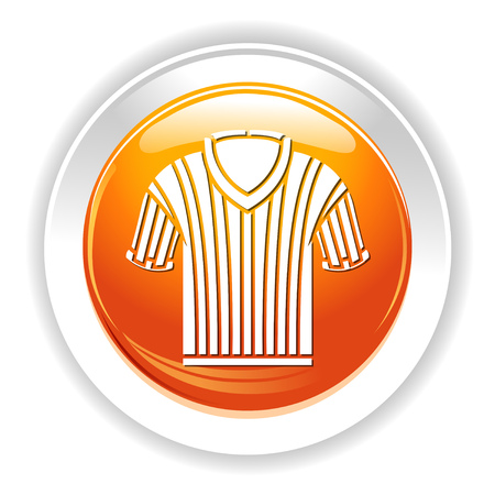 work clothes: basketball referee shirt icon
