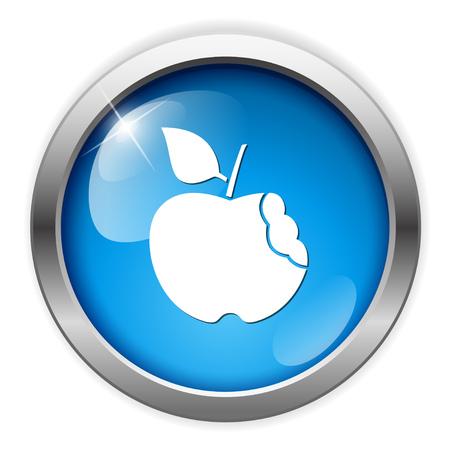 crunches: bitten apple icon Illustration