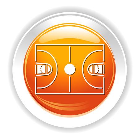 basketball court icon Illustration