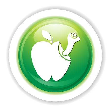 Icona della mala mela Archivio Fotografico - 80846208