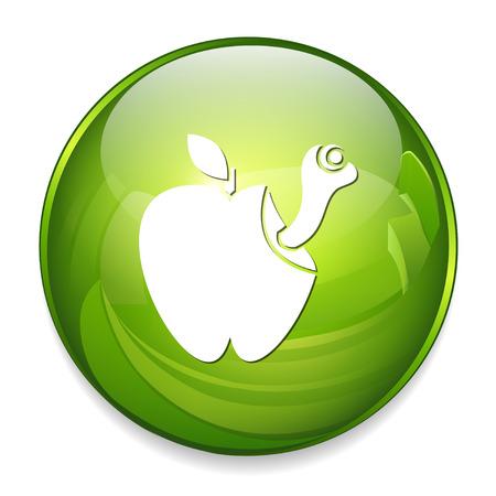 Icona della mala mela Archivio Fotografico - 80846227