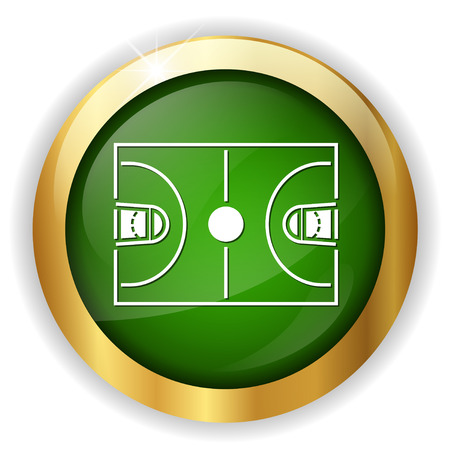nba: basketball court icon Illustration