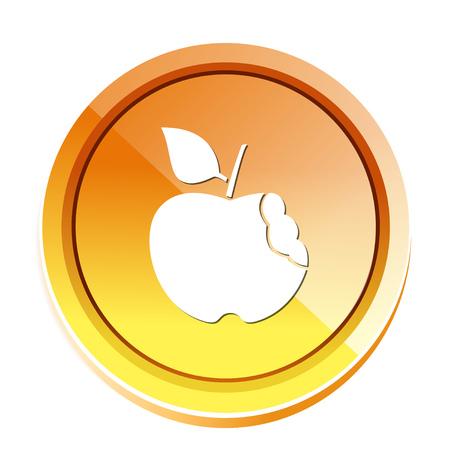 bitten apple icon Illustration