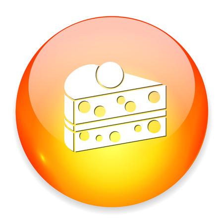 porcion de torta: Icono gran rebanada pastel