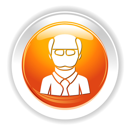 bald man character icon