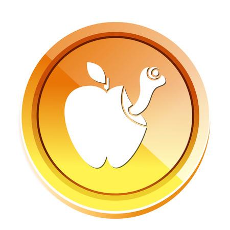 Icona di Apple Bad Archivio Fotografico - 80846301