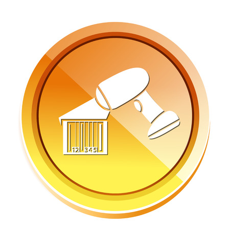 barcode scanner icon Illustration