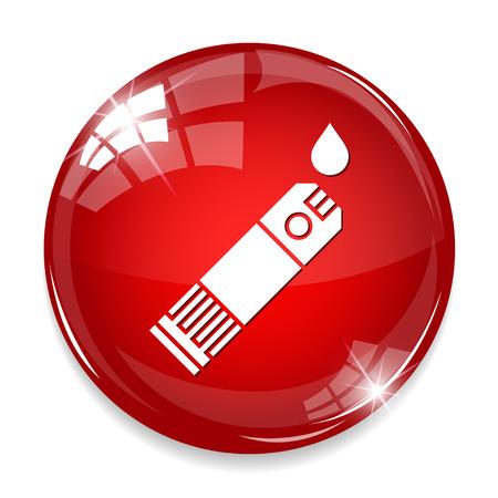 ikona kontrolna krwi Ilustracje wektorowe