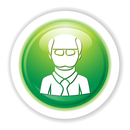 bald man character icon