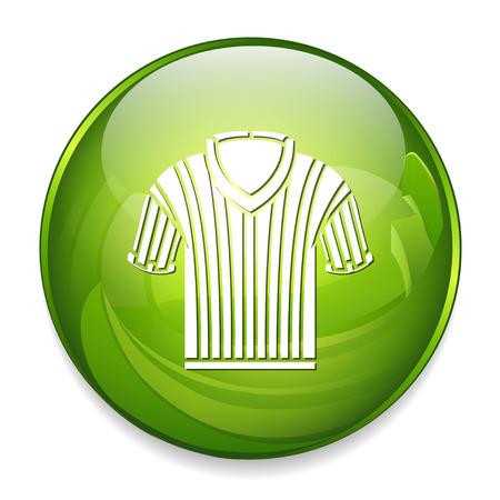 arbitros: Árbitro de baloncesto camisa de la camisa Vectores