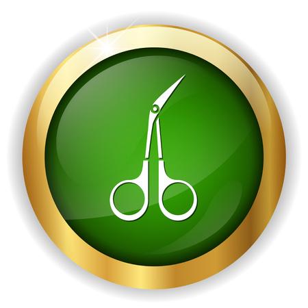bend scissors icon