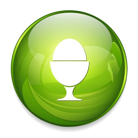 Boiled egg icon Illustration
