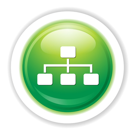 Business hierarchy icon Illustration