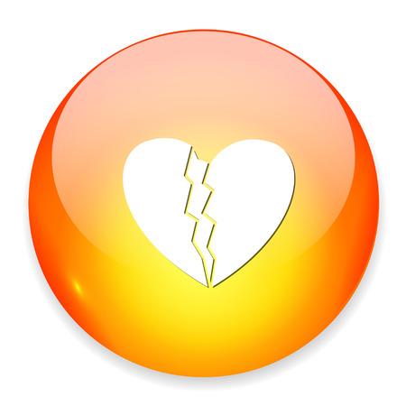 heartbreak: broken heart icon