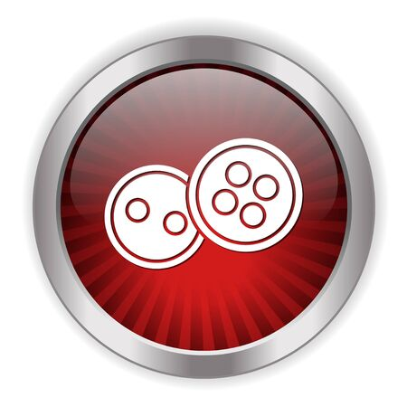 white coat: buttons icon