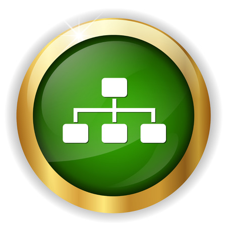 business hierarchy icon 向量圖像