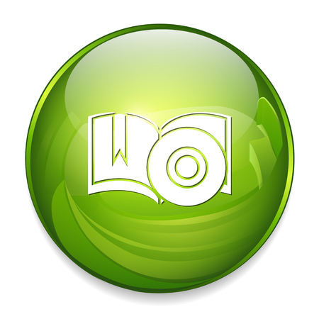 book with CD icon Illustration