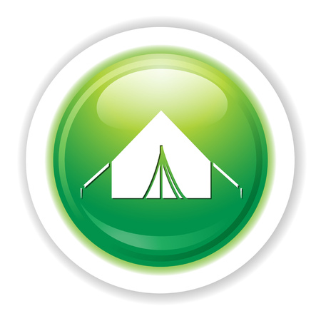 painting: camping tent icon