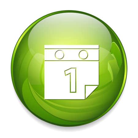 meses del a  ±o: calendar icon Vectores