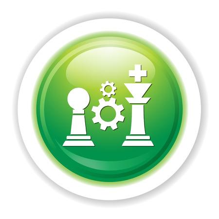 chess pieces icon Illustration
