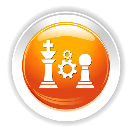 gearwheels: chess settigns icon Illustration
