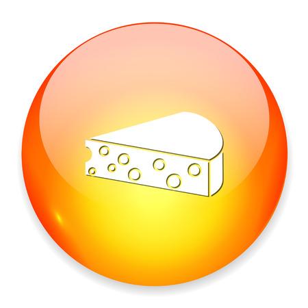 cheddar: Cheese icon. Illustration