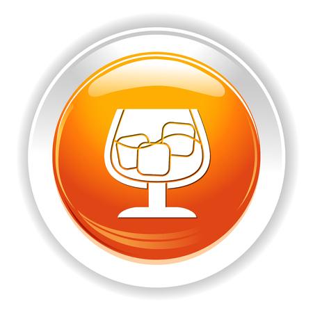 scotch: cognac icon Illustration