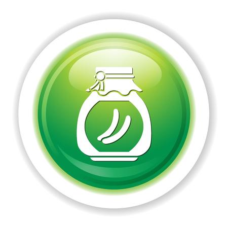 pickle: cucumber jar icon Illustration