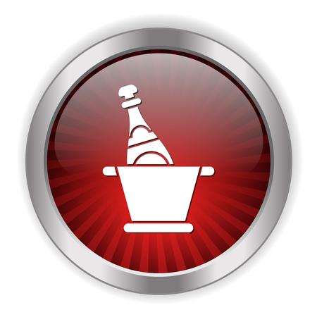 pail: cold champagne icon