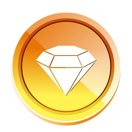 diamant stone icon Reklamní fotografie - 81038795