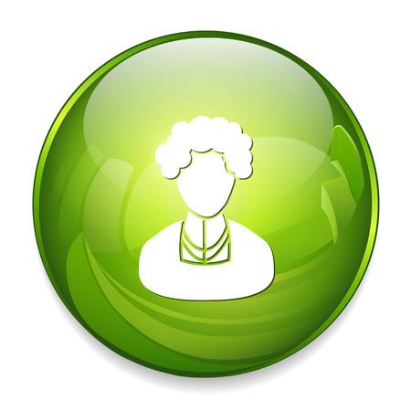 elder woman character icon Illustration