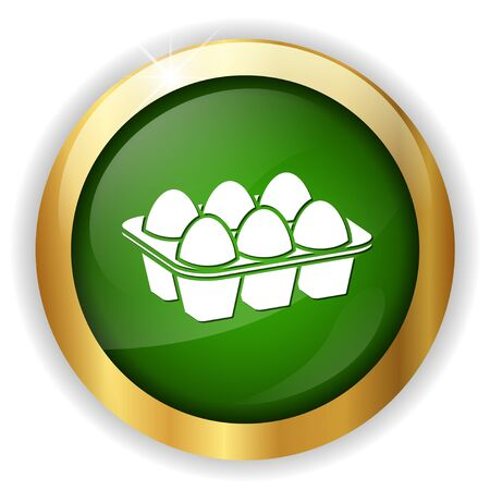 raw chicken: Eggs icon Illustration