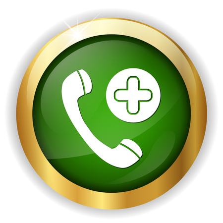 four objects: emergency call icon