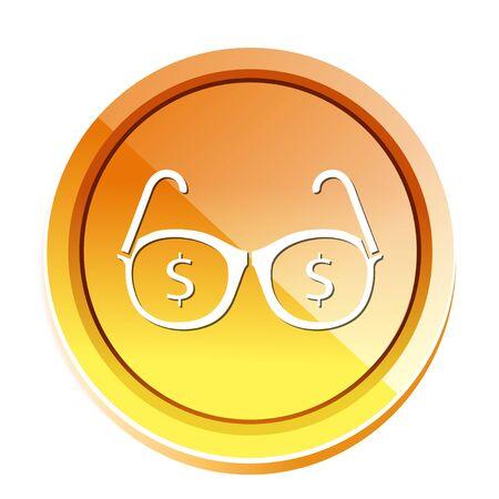 dollar glasses icon