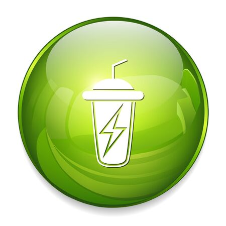 thirsty: Energy sport drink icon