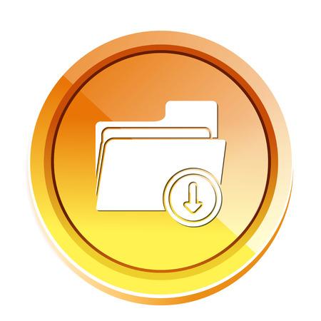 folder download icon Illustration