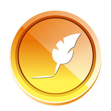 poet: feather pen icon