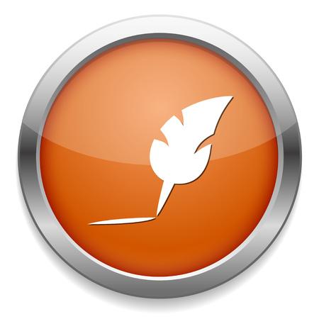 Icono de pluma de pluma Foto de archivo - 81145838