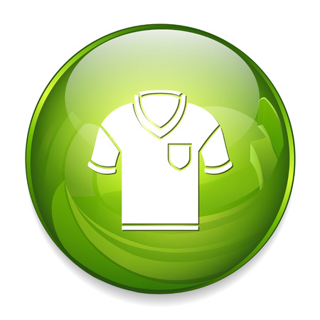 golf shirt icon Illustration