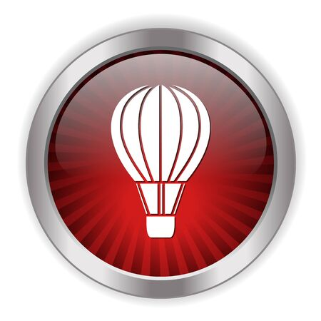 fly up: hot air baloon icon