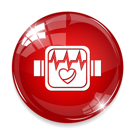 Heartbeat arm band icon