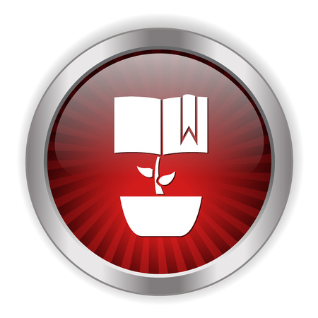 growing book icon