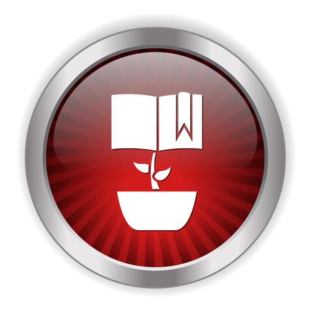 Wachsende Buchikone Standard-Bild - 81183503