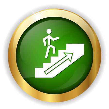 Aller de l'icône de l'homme Banque d'images - 81183585