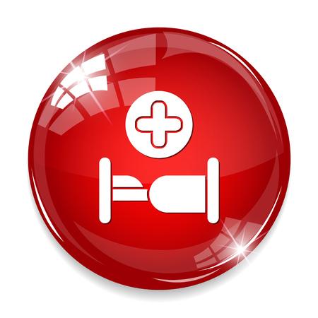 paciente en camilla: Icono de la cama del hospital