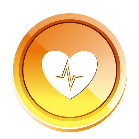 puls: Serce ikonę impulsu Ilustracja