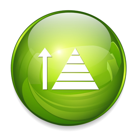growing pyramid icon