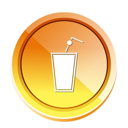 Glass of juice icon