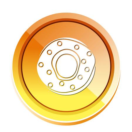 rounded circular: glazed bagel icon