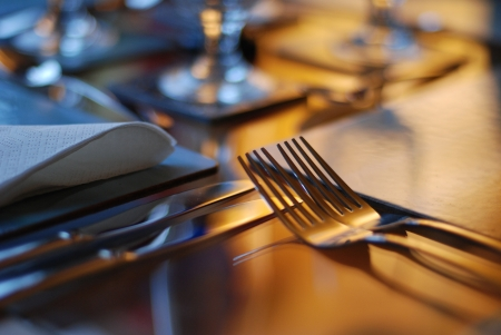 Table set for dining